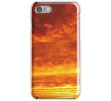 Sunset Clouds over New York City  iPhone Case/Skin