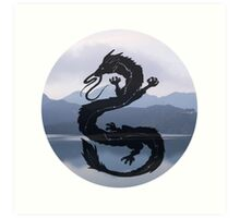 Dragon Haku Spirited Away blue Art Print