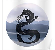Dragon Haku Spirited Away blue Poster