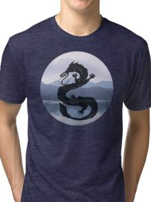Dragon Haku Spirited Away blue Tri-blend T-Shirt