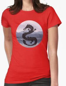 Dragon Haku Spirited Away blue Womens Fitted T-Shirt