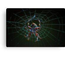 air brush spider web Canvas Print