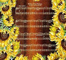 Waltz Of The Flowers Dancing Sunflowers by Irina Sztukowski