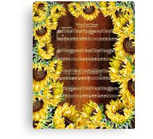 Waltz Of The Flowers Dancing Sunflowers Canvas Print