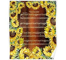 Waltz Of The Flowers Dancing Sunflowers Poster