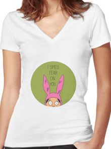 I Smell Fear On You Women's Fitted V-Neck T-Shirt