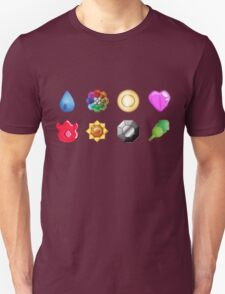 ♥♥♥ POKEMON INDIGO LEAGUE GYM BADGES PATTERN ♥♥♥ T-Shirt