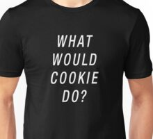 What Would Cookie Do? (White on Black) Unisex T-Shirt