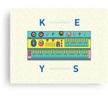 Keyboard Synth Canvas Print