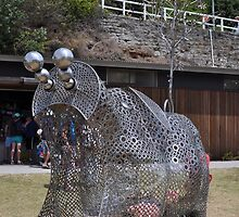 20151031 Sculptures By Sea - Big Pig Yawning  by muz2142