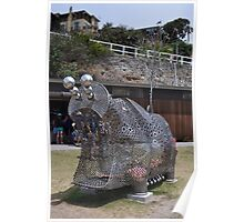 20151031 Sculptures By Sea - Big Pig Yawning  Poster