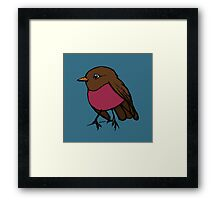 Robin bird Framed Print
