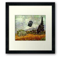 TARDIS In A Wheat Field Framed Print