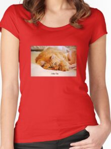 I Miss You, Maine Coon Cat Women's Fitted Scoop T-Shirt