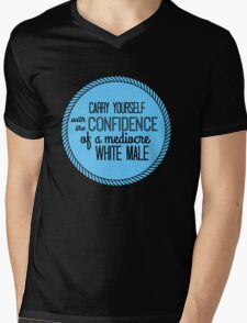 confidence of a mediocre white male Mens V-Neck T-Shirt