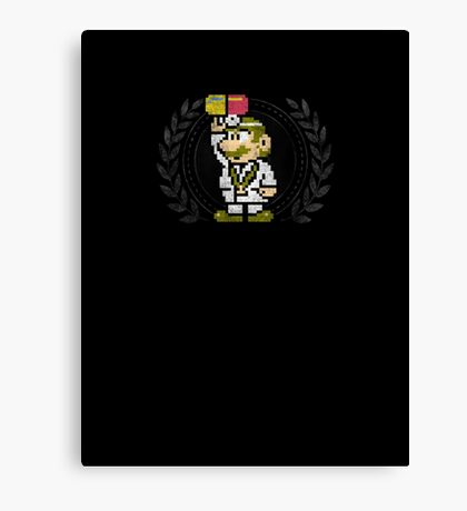 Dr. Mario - Sprite Badge Canvas Print