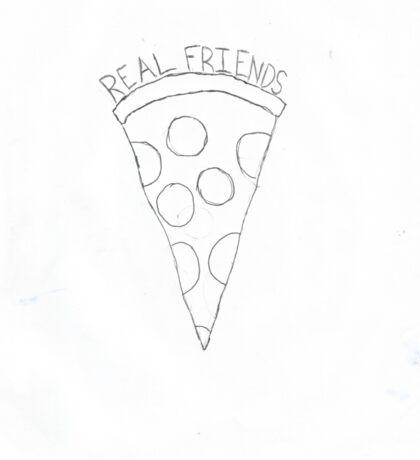 Real Friends Pizza Sticker