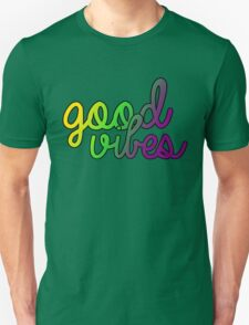 Good Vibes Purple Green Gold T-Shirt