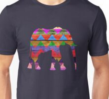 Chevron Elephant Pattern on Wood Unisex T-Shirt