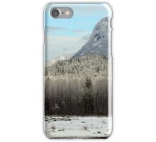 Squamish Valley in the Snow iPhone Case/Skin