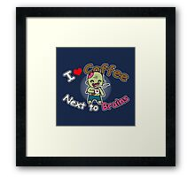 Coffee Zombie Framed Print