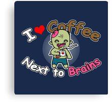 Coffee Zombie Canvas Print
