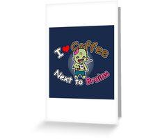 Coffee Zombie Greeting Card