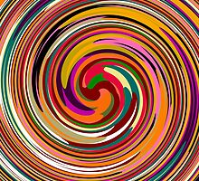 Abstract Colored Twist Art Background by Nhan Ngo
