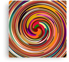 Abstract Colored Twist Art Background Canvas Print