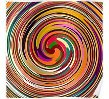 Abstract Colored Twist Art Background Poster