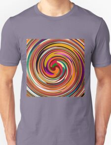 Abstract Colored Twist Art Background T-Shirt