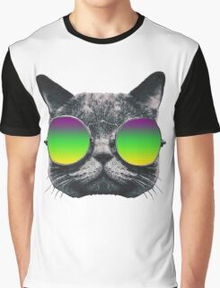 Mardi Gras Cat Graphic T-Shirt