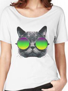Mardi Gras Cat Women's Relaxed Fit T-Shirt