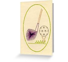 Golf Embroidery Greeting Card
