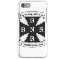 Rock and roll satisfies my soul iPhone Case/Skin