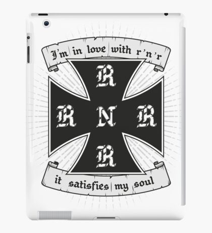 Rock and roll satisfies my soul iPad Case/Skin