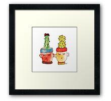 Cacti Couplet | Emma  Framed Print