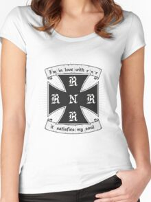 Rock and roll satisfies my soul Women's Fitted Scoop T-Shirt