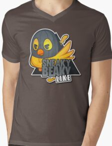 """Sneaky Beaky Like"" | DARK GRAY | CSGO | Sticker | Logo | High Quality Mens V-Neck T-Shirt"