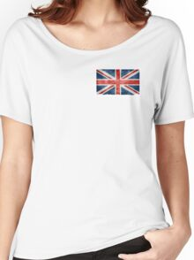 Faded British Flag Women's Relaxed Fit T-Shirt