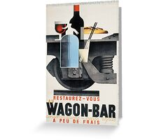 Vintage poster - Wagon-Bar Greeting Card