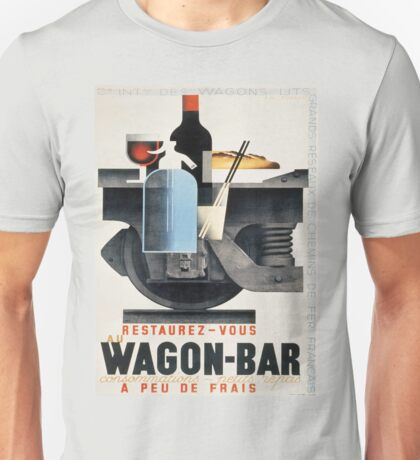 Vintage poster - Wagon-Bar Unisex T-Shirt