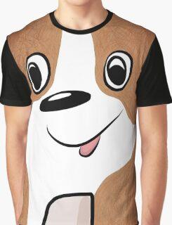 White-brown Puppy Graphic T-Shirt