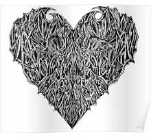 Valentines Heart White Poster