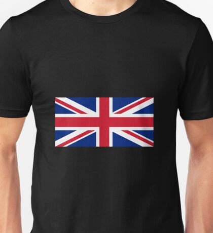 Red White and Blue Cross Flag of United Kingdom Unisex T-Shirt