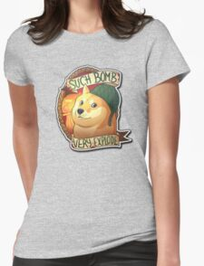"""""""Such Bomb Very Exploade""""    BROWN BACKGROUND   CSGO   Sticker   Logo   High Quality Womens Fitted T-Shirt"""