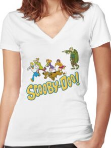 Scooby Gang Women's Fitted V-Neck T-Shirt