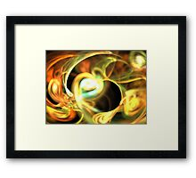 Orange Pearl Framed Print