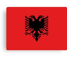 Red and Black Double Headed Eagle Flag of Albania Canvas Print