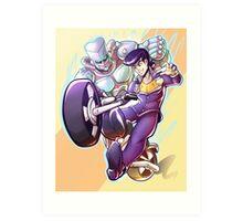 Josuke and Crazy Diamond Art Print